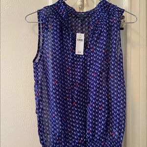NEW Gap Navy Blouse Size SMALL